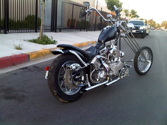 ハーレー EL Rigid chopper pan 車体写真2