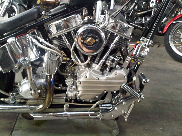 ハーレー EL Rigid chopper pan 車体写真4