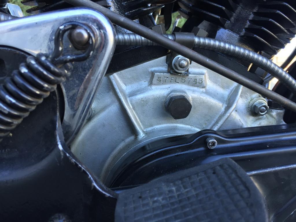 ハーレーダビッドソン 1947 FL 車体写真9