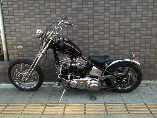 ハーレー FL Rigid pan chopper 車体写真2