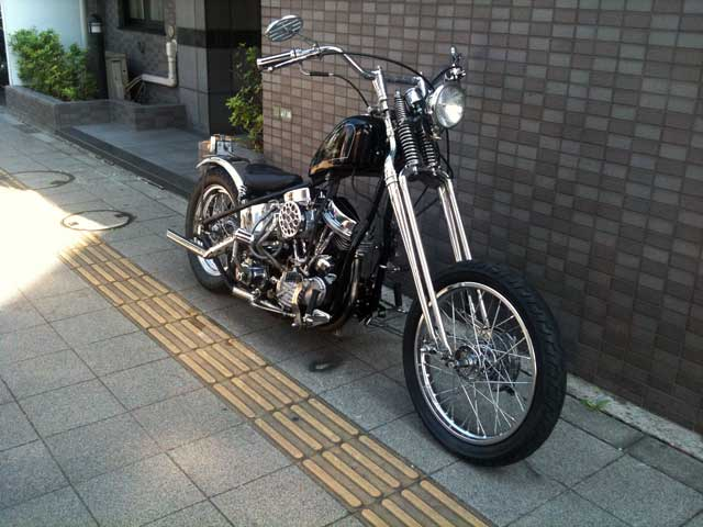 ハーレー FL Rigid pan chopper 車体写真3