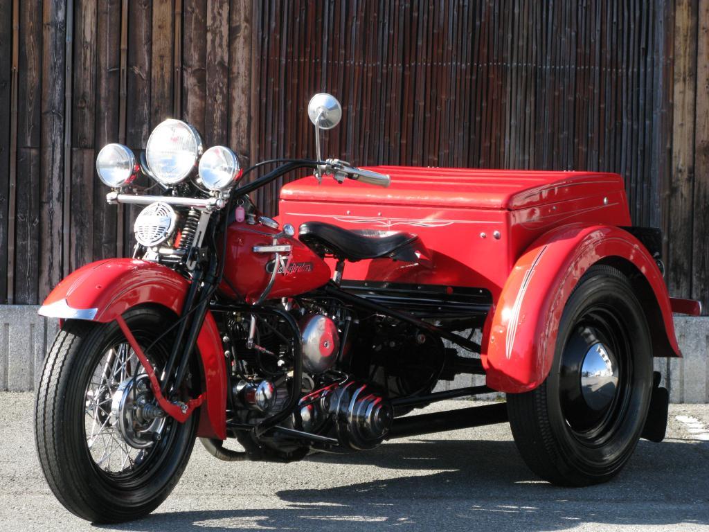 ハーレーダビッドソン 1955 G ServiceCar Trike 車体写真5