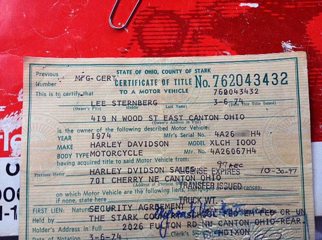 ハーレーダビッドソン 1974 XLCH 1000 車体写真12