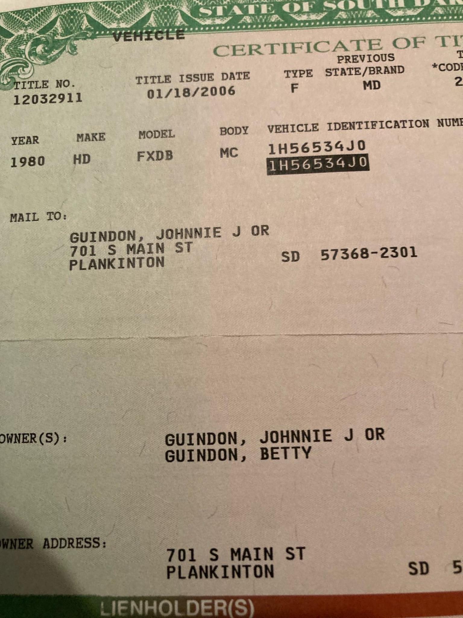 ハーレーダビッドソン 1980 FXB Sturgis 車体写真12